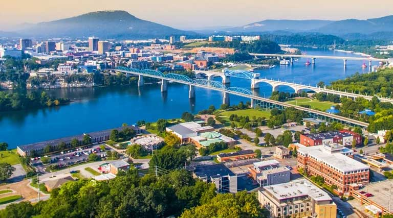 Chattanooga_Tennessee_Aerial_View_Drone
