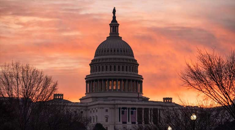 Dawn at U.S. Capitol Washington D.C.