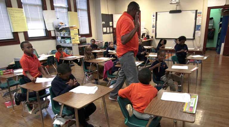 Charter School_Milwaukee Math and Science Academy_First-Graders_Dwane Davis_
