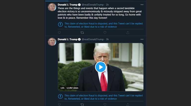 Jan 6 Tweets From Trump