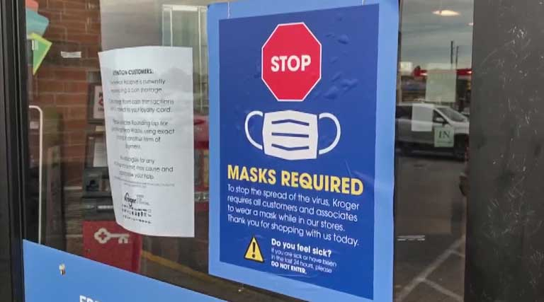 Masks Required Sign _ Grocery Store