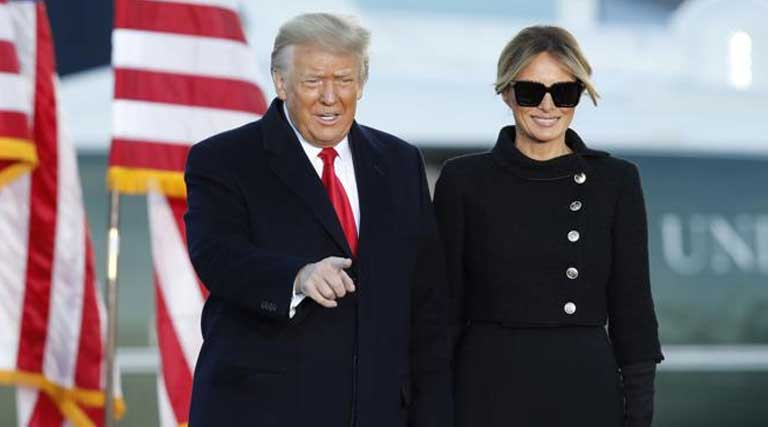 Donald Trump_Melania Trump_Andrews Air Force Base_Jan 20 2021
