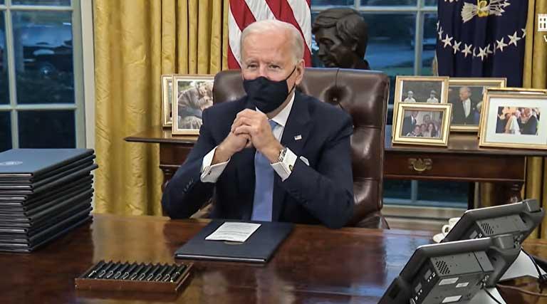 President Joe Biden_Executive Orders_White House_Oval Office