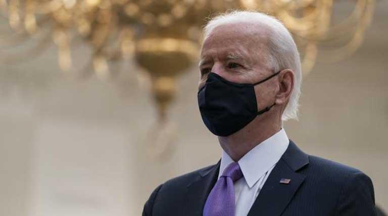 Joe Biden_Mask_Inaugural Prayer Service_Jan 21 2021,Washington D.C.