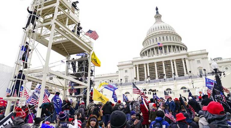 Protesters In Front Of U.S. Capitol Building Wednesday January 6, 2021