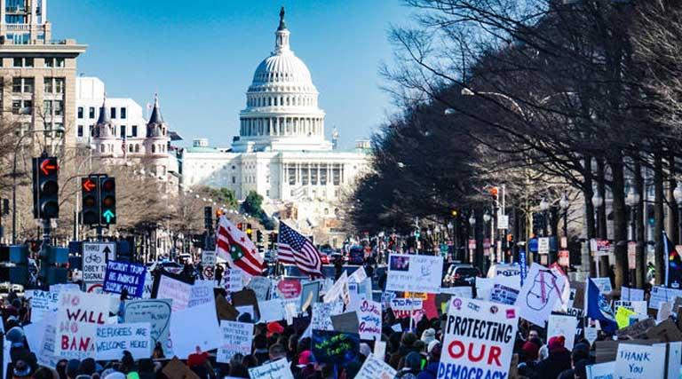 Protestors Washington D.C. U.S. Capitol