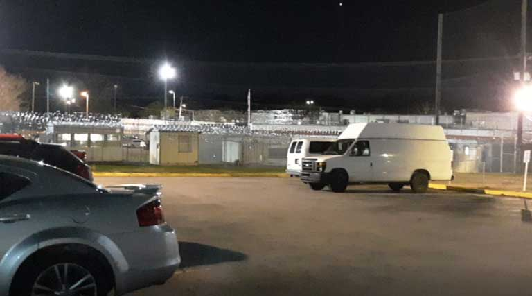 Silverdale-Detention-Center-Chattanooga,-TN at night
