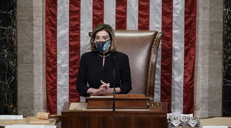 U.S. Capitol protesters Nancy Pelosi Impeachment Donald Trump