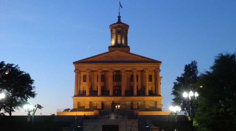 Tennessee State Capitol Building Nashville At Night