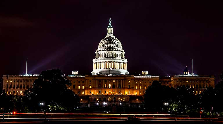 U.S. Capitol Building_Washington D.C._Night