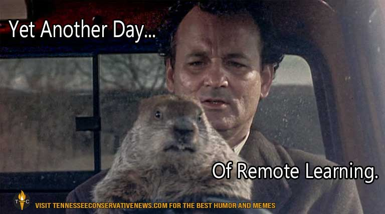 Yet Another Day_remote learning_meme-humor_groundhog day