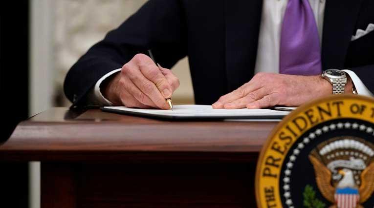 Joe Biden_Executive Orders_Signing_State Dining Room_White House_Washington D.C.