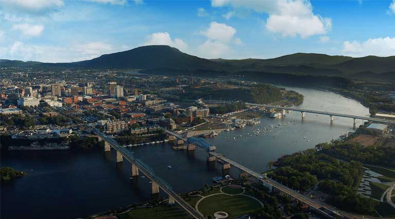 Chattanooga_Hamilton County_Tennessee_Aerial