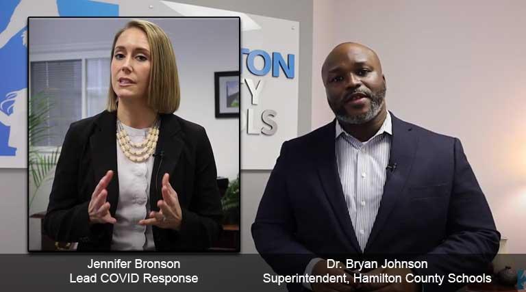 COVID Response Lead Jennifer Bronson_Superintendent Bryan Johnson_Hamilton County Schools_Tennessee