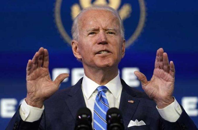 Joe Biden gesturing
