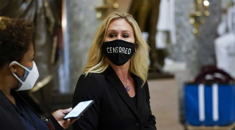 Marjorie Taylor Green_Capitol Hill_Censored_Mask_Washington D.C.