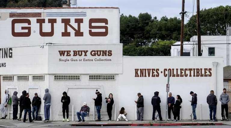 People Waiting In Line_Culver City_California_Gun Store