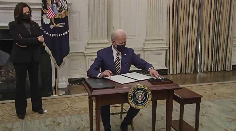 Joe Biden_Executive Orders_Kamala Harris_White House_State Dining Room_Washington D.C.