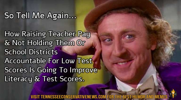 Teacher Pay Raises_Academic Accountability_Low Test Scores_Low Literacy Rates_Tennessee