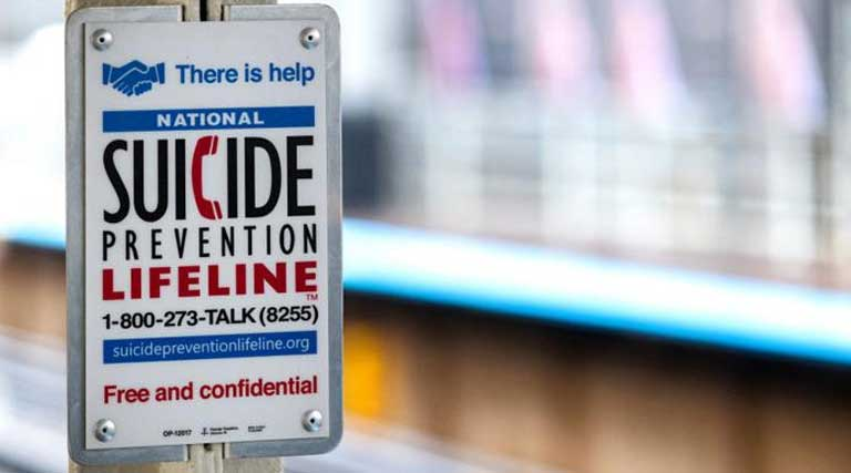 National Suicide Prevention Lifeline Sign