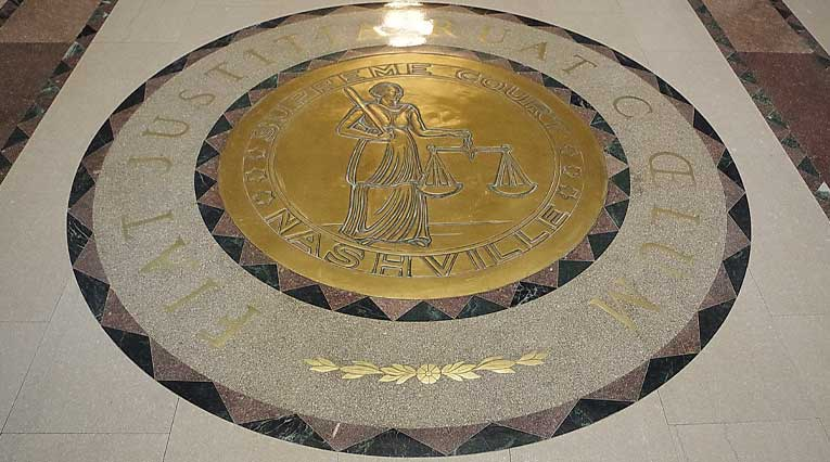 Floor Inlay at Tennessee Supreme Court Building in Nashville, Tennessee
