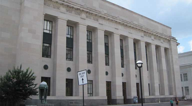 Tennessee Supreme Court building in Nashville, Tennessee