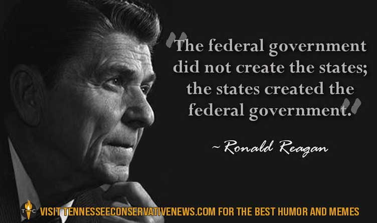 Ronald Reagan_Conservative_Quotes_The Federal Government Did Not Create The States...