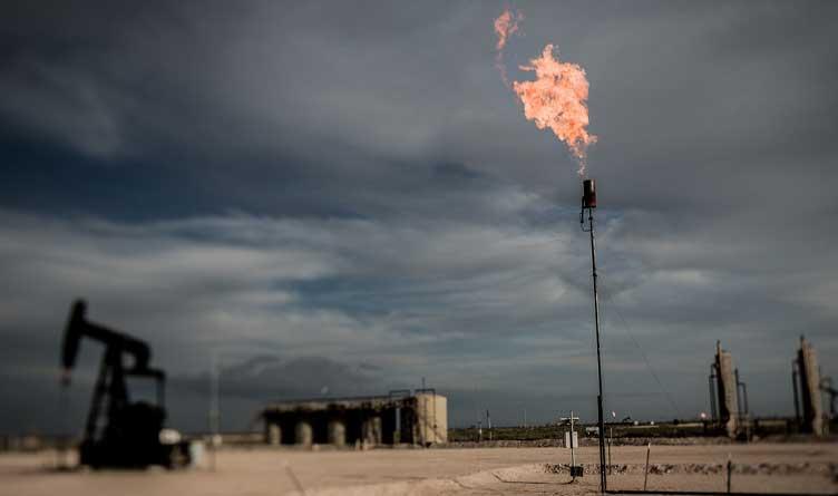 Flare Off & Pumpjack Permian Basin Oil Field — Eddy County, NM