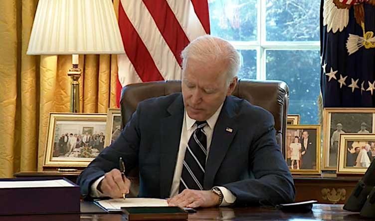President Joe Biden_White House_Oval Office_American Rescue Plan_Legislation