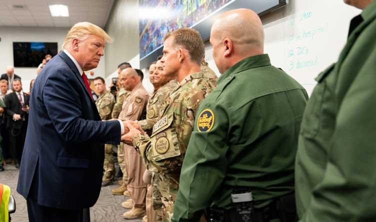 President Trump Meets With U.S. Border Patrol Agents.