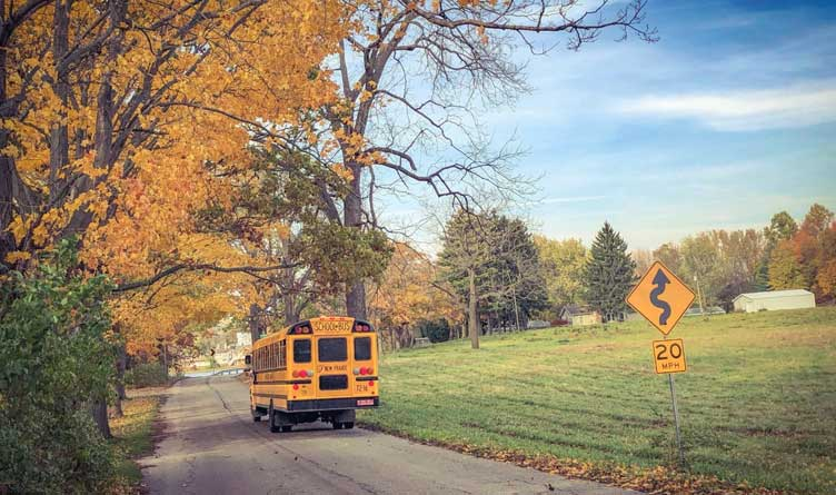 Rural Tennessee students_few educational options_School Bus