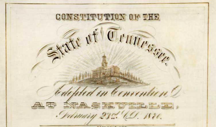 Tennessee Constitution 1870 Revision