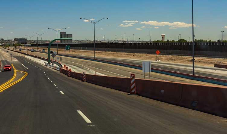 Texas-Mexico Border in El Paso