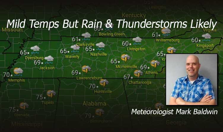 Friday & Saturday Weather Tennessee Meteorologist Mark Baldwin