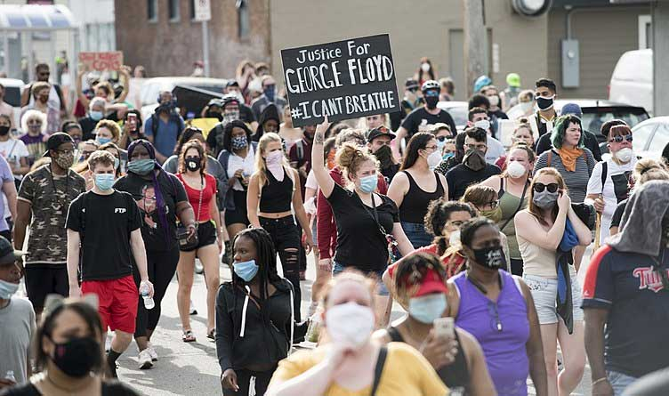 Protest against police violence - Justice for George Floyd, May 26, 2020