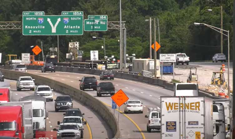 I-24 Over Germantown Road In Chattanooga To Be Closed For Up To 4 Weekends