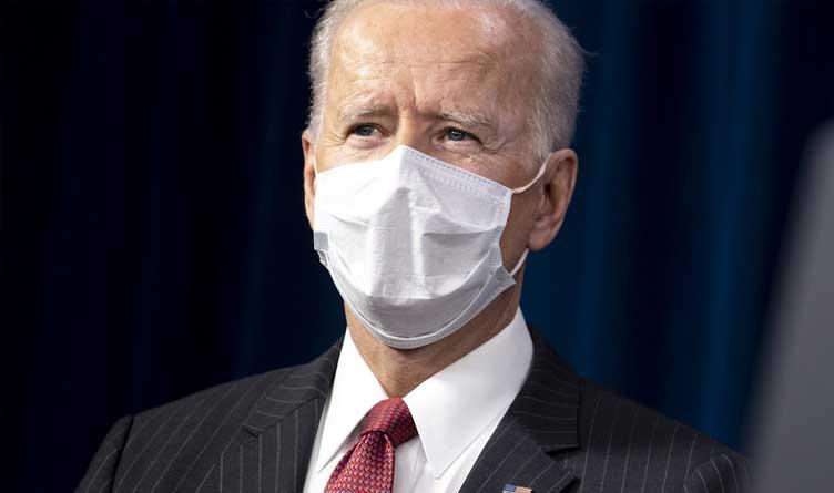 President Joe Biden in White Mask