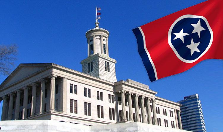 Tennessee Capitol Building Nashville Flag