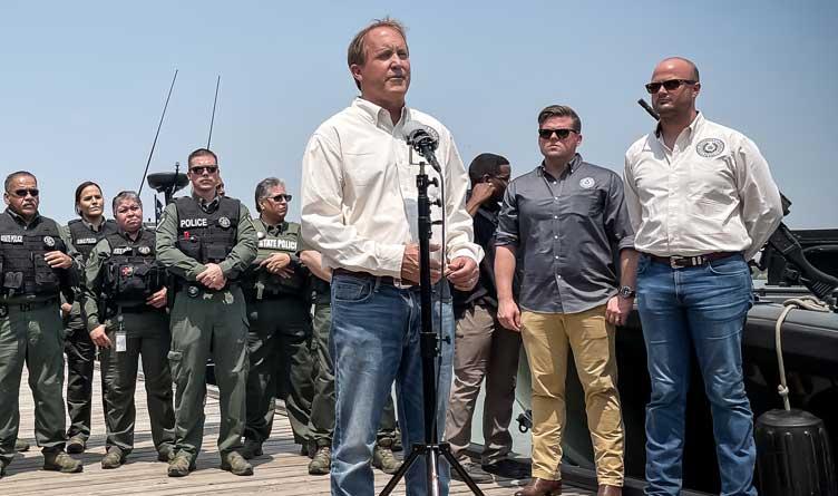 Texas Ken Paxton Immigration Border Texas
