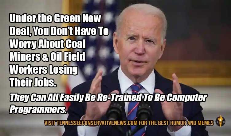 Under the Green New Deal... Joe Biden Meme