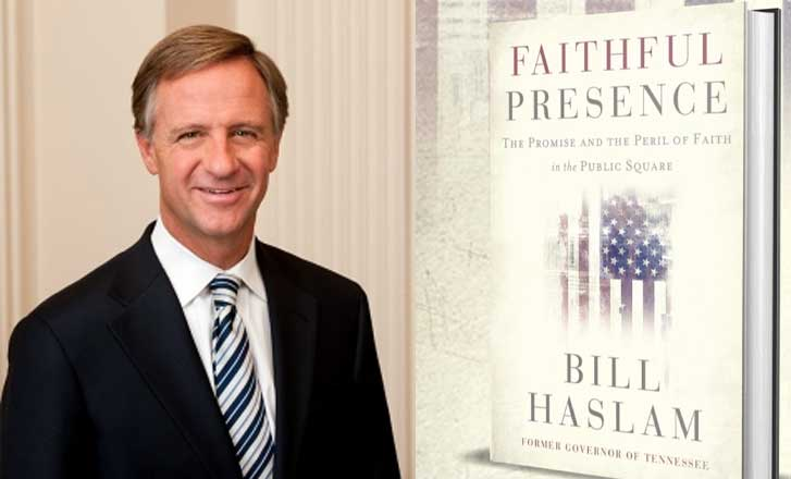 Former Gov. Bill Haslam Writes About Christians' Role in Politics