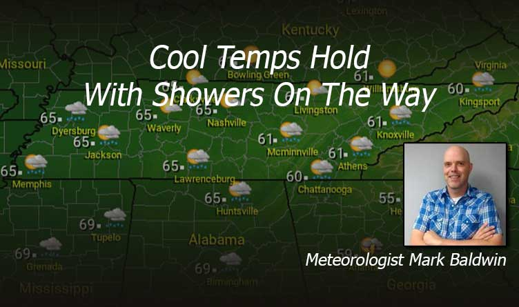 Tennessee Weather Forecast - Cool Temps Hold With Showers On The Way