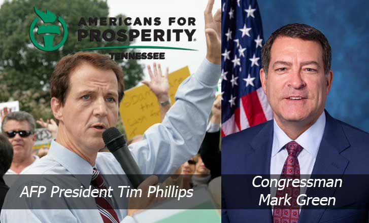 """Americans for Prosperity Hosts """"End Washington Waste"""" Event with Congressman Mark Green, AFP President Tim Phillips"""