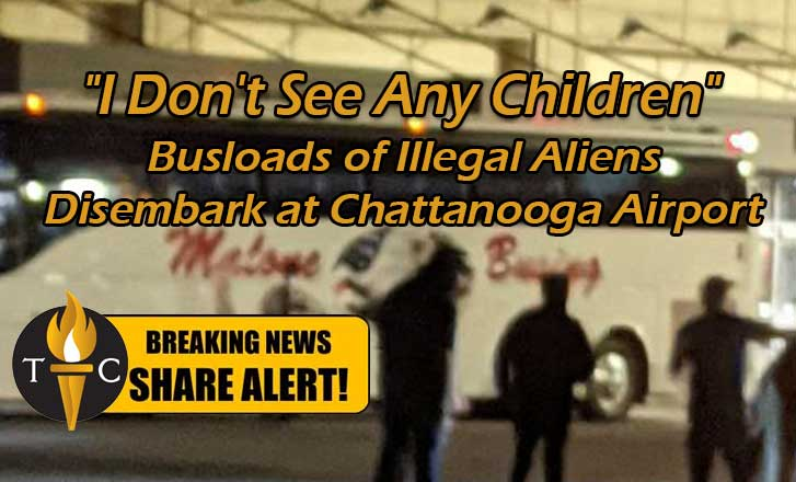 """""""I Don't See Any Children"""" Busloads of Illegal Aliens Disembark at Chattanooga Airport"""