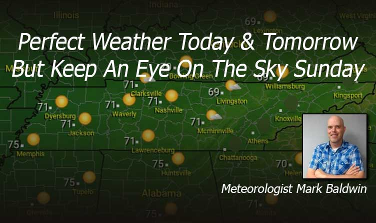 Perfect Weather Today & Tomorrow But Keep An Eye On The Sky Sunday