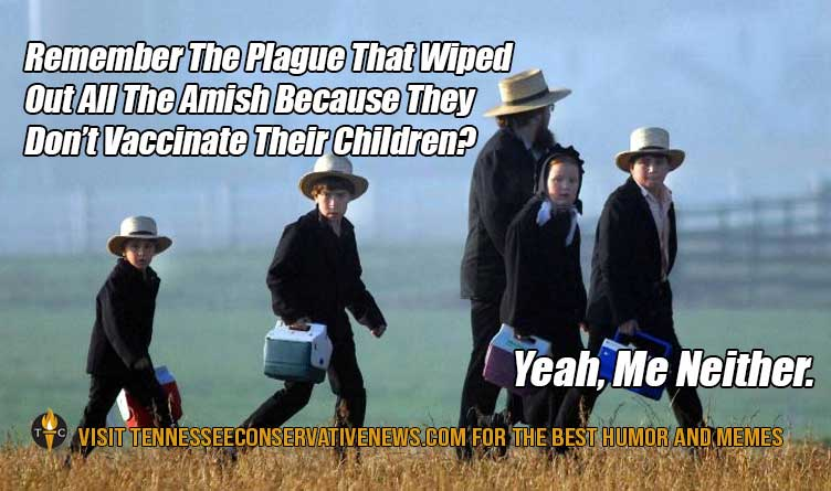Remember the Plague Amish Vaccinate Children Humor Meme COVID-19 Vaccinations