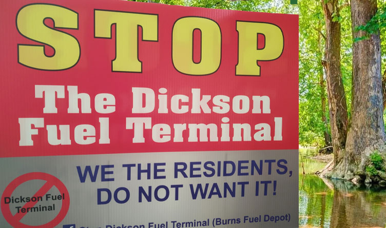 Concerned Tennesseans Form Group To Oppose Dickson Fuel Terminal