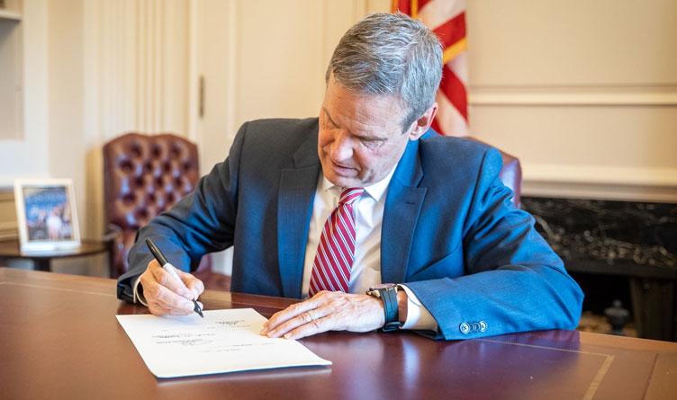 Tennessee Governor Bill Lee Signing Bills