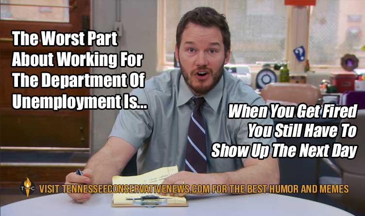 Department of Unemployment Chris Pratt parks and recs Meme
