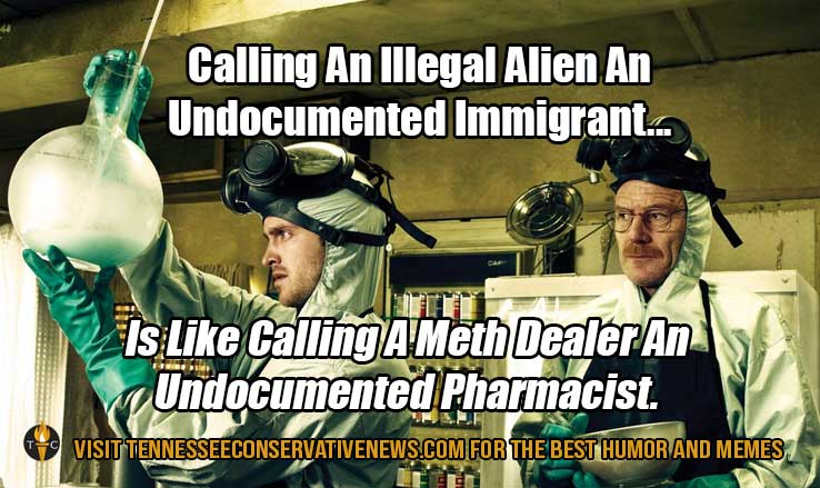 Calling An Illegal Alien An Undocumented Immigrant... Meme